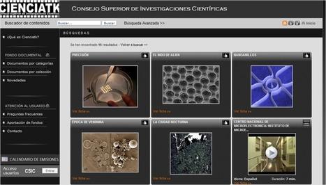CIENCIATK, fondo de imágenes y vídeos del CSIC en Internet. | TICCH | Scoop.it