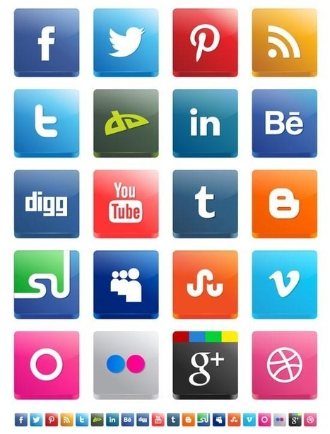 30 Fresh Social Media Icon Sets for Web Designers | Free Design Tools | Scoop.it