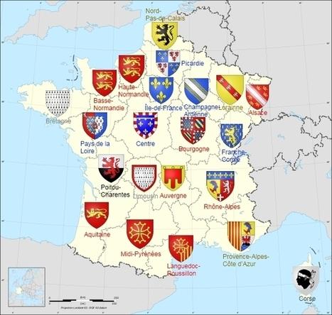 Origine des blasons des régions françaises: en métropole | Un article d'Omnilogie.fr | Nos Racines | Scoop.it