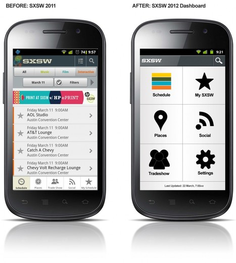 SXSW 2012 Mobile App Wireframes | Expertiential Design | Scoop.it
