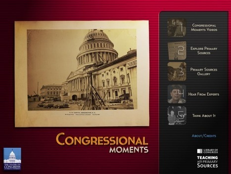 Congressional Moments for iPad - Learn to Identify Primary Sources | Edtech PK-12 | Scoop.it
