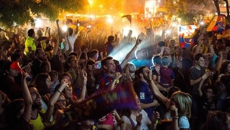 Barcelona fans celebrate the night away after Champions League final victory - video - The Guardian | AC Affairs | Scoop.it