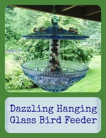 Dazzling Hanging Glass Bird Feeder - My Personal Accent | Do It Yourself | Scoop.it