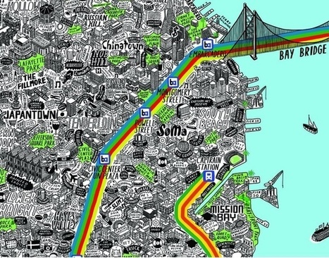 An Insanely Detailed, Hand-Drawn Map Of San Francisco | Images in 21st Century Communication | Scoop.it