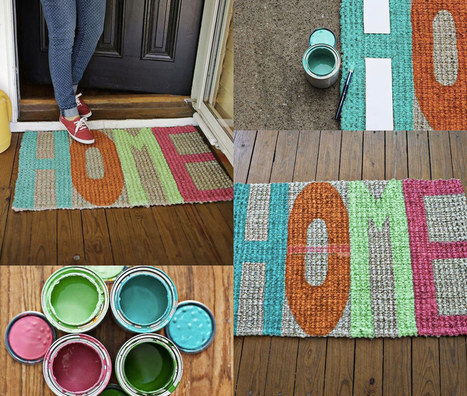 Evde dekoratif kapı önü paspası yapımı | Güzellik | Pek Marifetli! | KADIN SİTESİ | Scoop.it