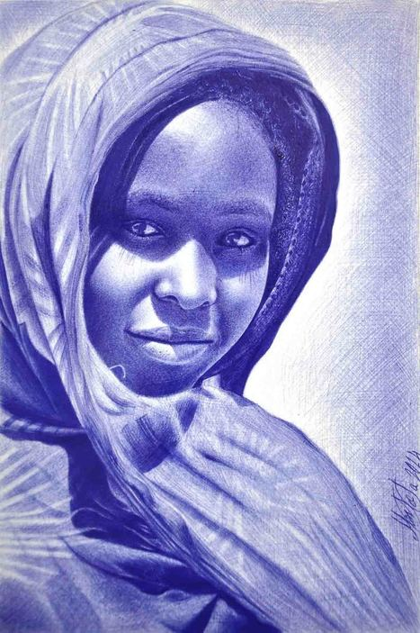 Cet artiste dessine des portraits incroyables uniquement avec un stylo BIC | culture, développement personnel, pensée philosophique, littérature | Scoop.it