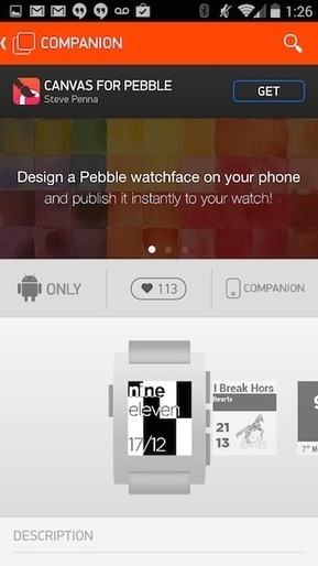 "Pebble lance son Appstore sur Android | Veille Techno et Informatique ""AutreMent"" 