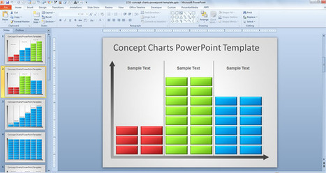 Free Creative Bar Chart PowerPoint Template | Meetings & Events | Scoop.it