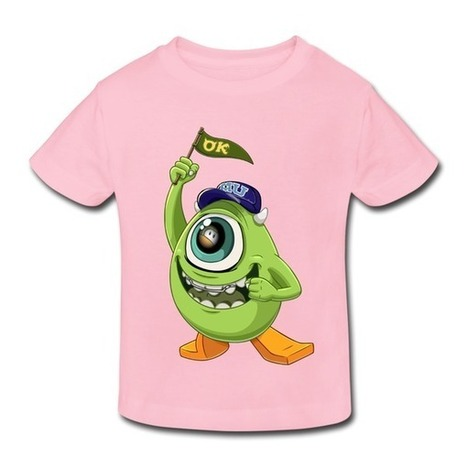 Monster University Mike With Ok Flag Light Pink Toddler T-shirt For Toddler on Sale-Official Brands Kids & Babies -HICustom.net | My Custom World,From Hicustom!!! | Scoop.it