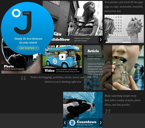 Jux. An excellent showcase for your content | Create: 2.0 Tools... and ESL | Scoop.it