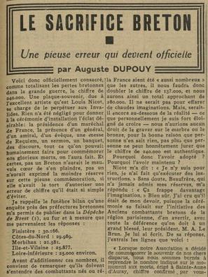 Centenaire de la Première Guerre mondiale: combien de «poilus» de votre département parmi les victimes?  | Slate | Nos Racines | Scoop.it
