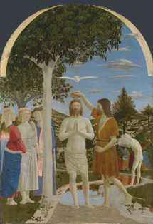 Piero della Francesca   The Baptism of Christ   NG665   The National Gallery, London   The Contemporary Artworld and Painting   Scoop.it