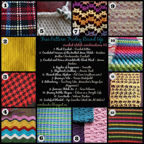 Crochet Stitch Combinations #2 - Free Pattern Friday Round Up! | Crochet | Scoop.it