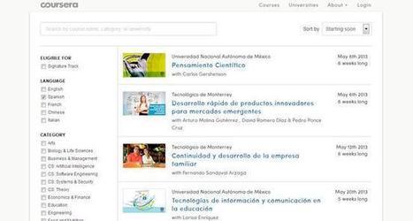 Coursera ya ofrece cursos en español y otros idiomas | Recull diari | Scoop.it