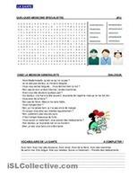 LA SANTE fiches - iSLCollective.com – Fiches pédagogiques gratuites   LA PAUSE   Scoop.it