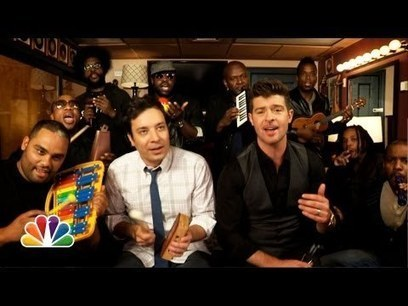 Viral video Jimmy Fallon, Robin Thicke | staged | Scoop.it