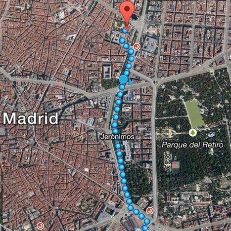 La distancia ocupada por las Marchas de la Dignidad, cercana a los 2,5 kilómetros | Los mapas del #15M | Scoop.it