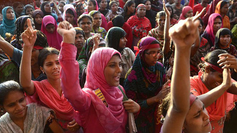 50,000 Bangladeshi garment workers strike over 'inhuman' wages | Geography | Scoop.it