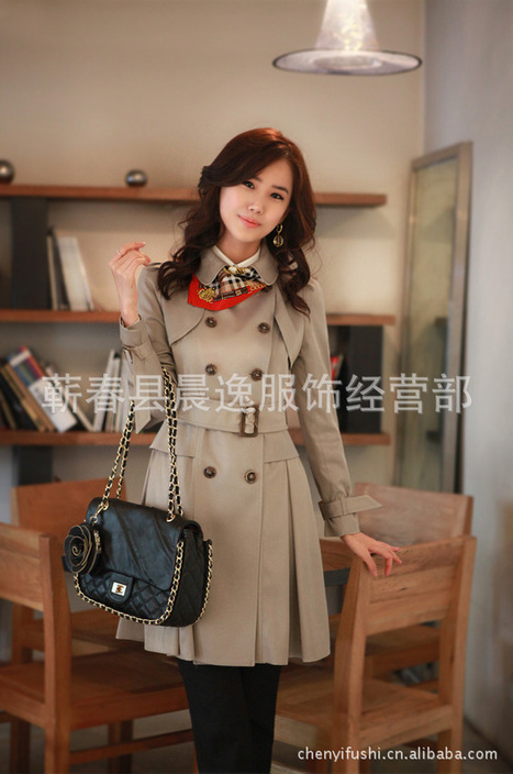 Cheap Korean long section lapel waist skirt women's trench coat in women outcoat from women clothing on sightface.com | Cheap women Clothing Online at Sightface | Scoop.it