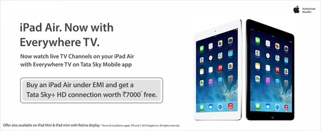 Tata Sky+ HD Connection Free on Purchase of iPad Air & Mini at Infibeam | Online Book Store | Scoop.it