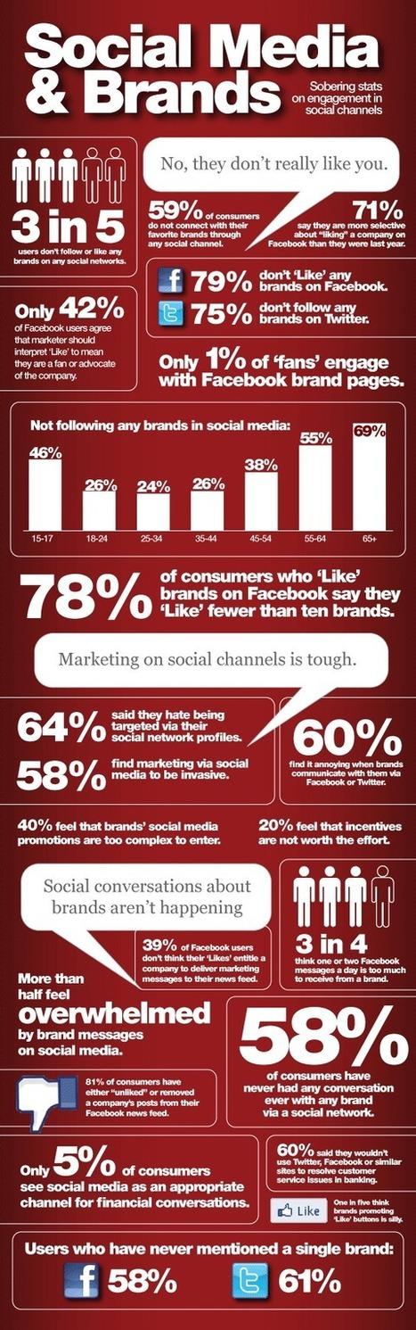 Sobering Stats: Brands Struggle For Engagement In Social Media | visualizing social media | Scoop.it