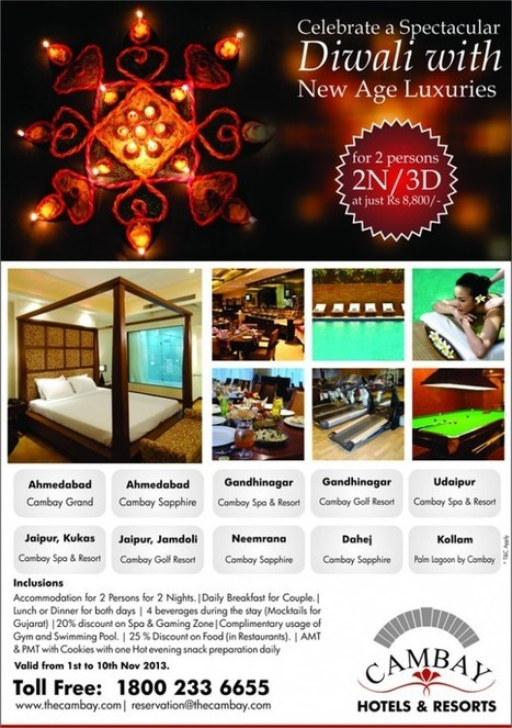 Cambay introduces exclusive packages for Diwali Holidays. | Hotels & Resorts | Scoop.it