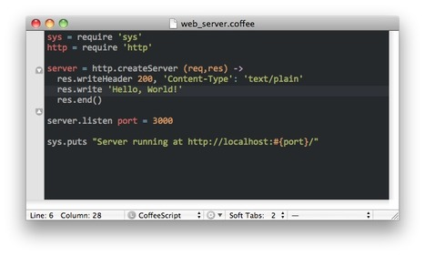 TextMate + CoffeeScript = coffee-script-tmbundle | Node.js | Scoop.it