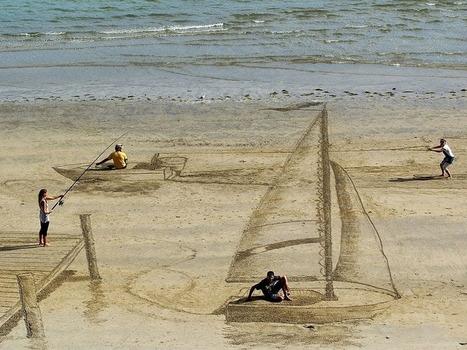Amazing 3D Beach Art   Creative photography   Scoop.it