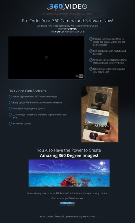[GET] 360 VIDEO: SOFTWARE + 360 CAMERA + LIFETIME HOSTING | Photography | Scoop.it