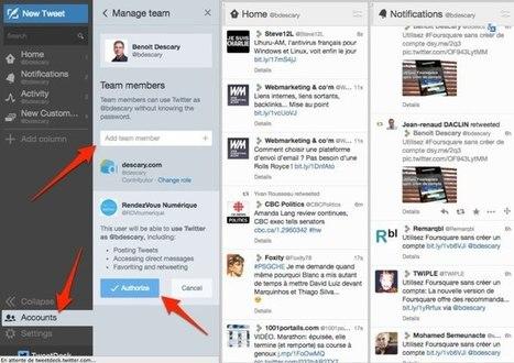 Twitter pour les équipes, la gestion de comptes multiples arrive sur Tweetdeck | Going social | Scoop.it