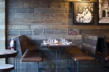 Endless Reclaimed Wood at Boston Wine Bar | Interior design | Scoop.it