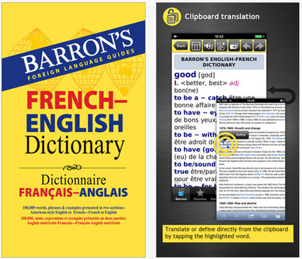 Le dictionnaire français-anglais de Barron's est disponible sur iPhone | Metaglossia: The Translation World | Scoop.it