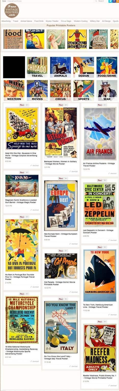 Un site d'affiches à télécharger, Free Vintage Posters   Les Infos de Ballajack   CDI RAISMES - MA   Scoop.it