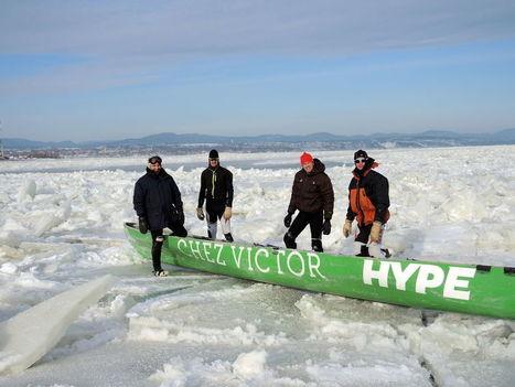 Canot à glace: ramer sur les glaces du fleuve Saint-Laurent à -20 oC | Le canot à glace - Ice canoeing | Scoop.it