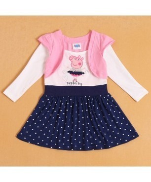 Sweet Style Kids Fashion Long Sleeve Dresses Polk Dots Pepper Pig Print | Clothing at SMA-STAR | Scoop.it