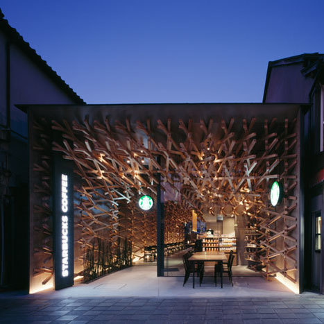 Starbucks Coffee at Dazaifu Tenman-gū by Kengo Kuma and Associates - Dezeen | Design's Jaguar | Scoop.it