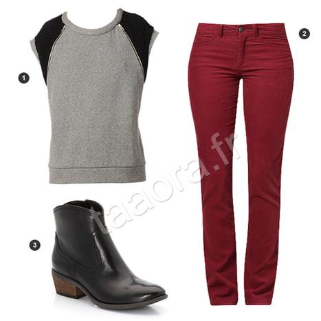 Look mode automne 2013, avec un pantalon tendance couleur bordeaux | La tendance de cette année | Scoop.it