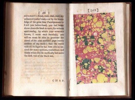 Bookmarking Book Art ... Sterne's Tristram Shandy | Books On Books | Scoop.it