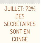 Juillet: 72% des secrétaires sont en congé | FORMEO | Un emploi et vite! | Scoop.it
