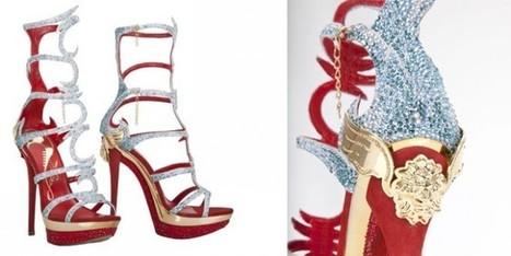 Il sandalo gioiello in rosso veneziano di Loriblu   fashion and runway - sfilate e moda   Scoop.it