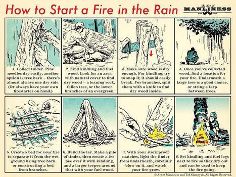 This Chart Explains How to Start a Fire in the Rain | Bazaar | Scoop.it