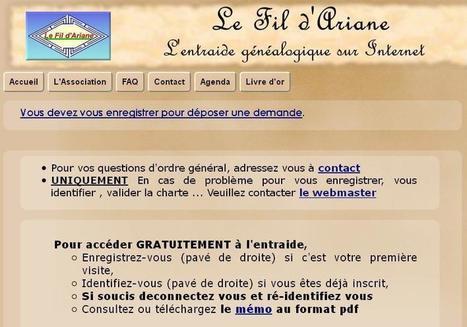 Le Fil d'Ariane, l'entraide généalogique sur Internet | CGMA Généalogie | Scoop.it