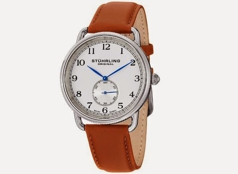Stuhrling Original Men's 207.01 Classic Cuvette Decor Swiss Quartz Brown Leather Strap Watch   العاب فلاش ظاظا   Scoop.it