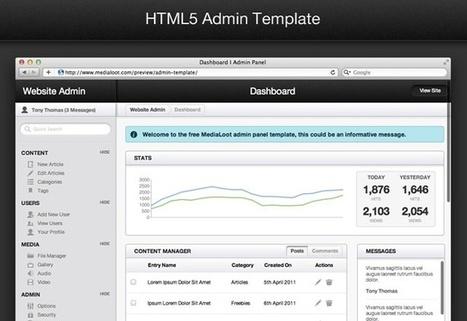 Free HTML5 Admin Template | MediaLoot | Web develop | Scoop.it