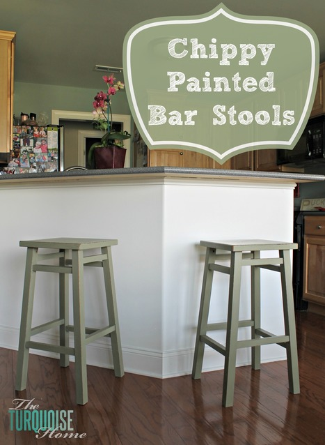 Chippy Painted Bar Stools - The Turquoise Home | Bar Stools | Scoop.it