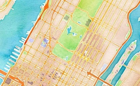 OpenStreetMap Overlays Turn Digital Maps into Watercolors | visual data | Scoop.it