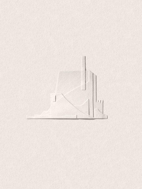 Des paysages minimalistes en bouts de papiers | Graphic design | Scoop.it