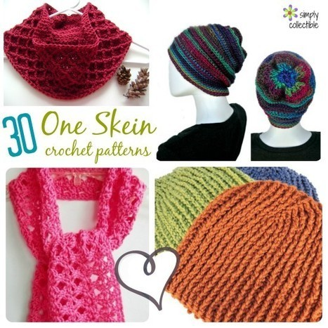30+ Free, One Skein crochet patterns - Quick and Easy for Craft Fairs or Gifts | Crochet, Knit, Patterns, and Fiber | Scoop.it