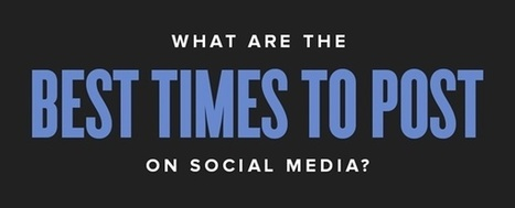 What Are The Best Times to Post on Social Media | SEJ | Social Media Marketing | Scoop.it