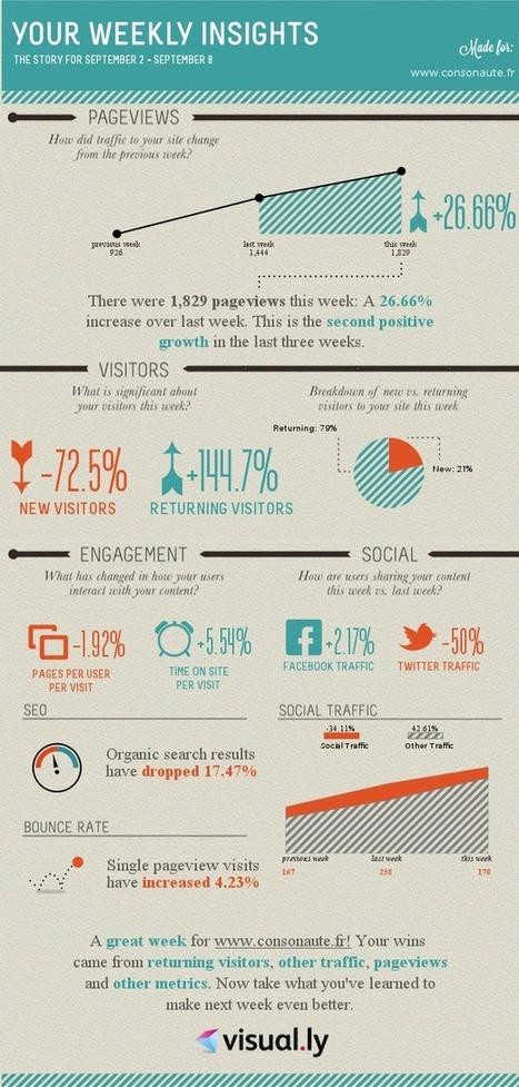 Présentez vos statistiques Google Analytics sous forme d'infographie | Evoluer en graphisme et webdesign | Scoop.it